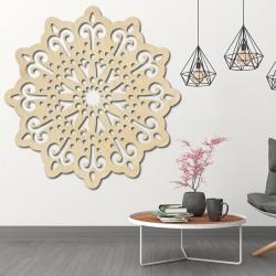 STYLESA moderný obraz na stenu kvet z dreva preglejky  BELFON čierny