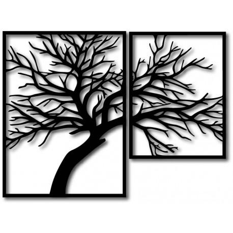 STYLESA Drevený obraz na stenu preglejka Obraz sa skladá z dvoch častí OLGA i čierny PR0220