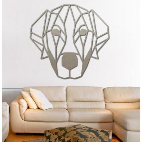 STYLESA moderný obraz na stenu pes z preglejky PR0229 HAFFF čierna