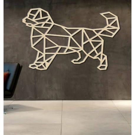 STYLESA vyrezávaný obraz na stenu z preglejku pes PR0230 čierny
