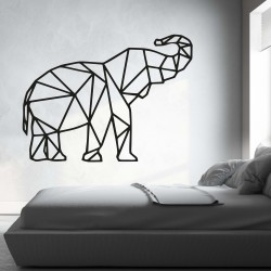 XMOM Vyrezávaný obraz na stenu geometrické tvary slon PR0236 čierny