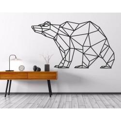 SENTOP Obraz na stenu geometrické tvary medveď PR0244 hnedý