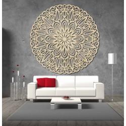 SENTOP Vyrezávaná drevená mandala obraz na stenu z preglejky DSARITA