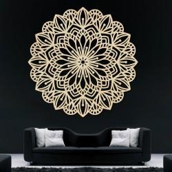Vyrezávaná mandala drevený obraz na stenu z preglejky