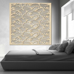 Vyrezávaný Drevený obraz na stenu z preglejky MUSLAY