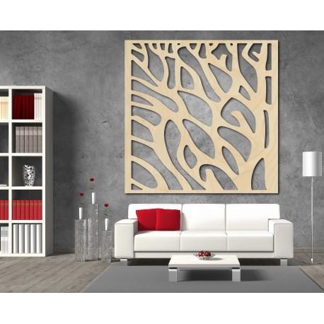 Vyrezávaný obraz na stenu z drevenej preglejky strom