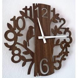 Drevené nástenné hodiny príroda z HDF HORICA