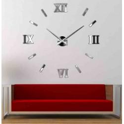 BOKAJ Veľké nástenné hodiny s číslo sedem DOMOV 12SZ015 SLOVAK čierne