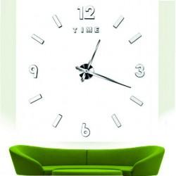 Moderné nástenné hodiny exclusive . Nálepka na stenu , zrkadlové .