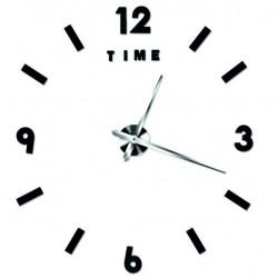 Moderné nástenné hodiny alitek . Nálepka na stenu farba čierna TATKO