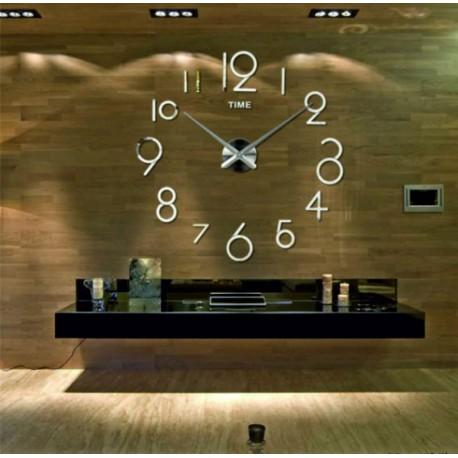 Moderné nástenné hodiny elka . Nálepka na stenu , zrkadlové .