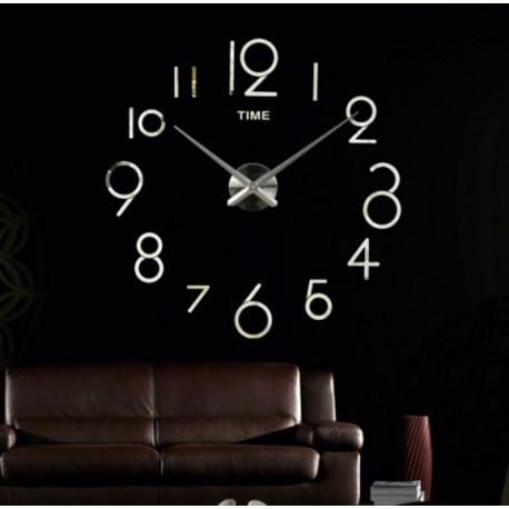 Veľké nástenné hodiny alibaba . Nálepka na stenu , zrkadlové .