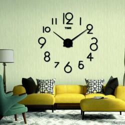 Moderné nástenné hodiny farba čierna ALENKA