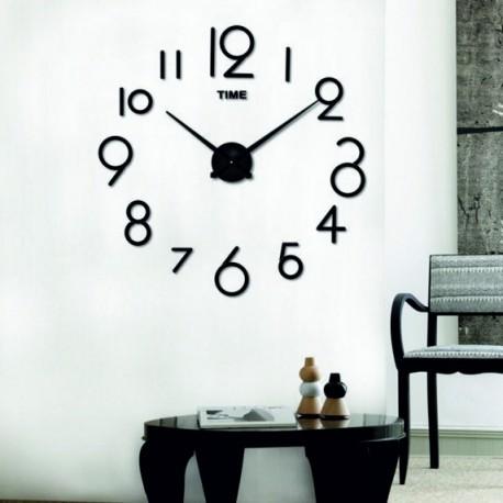 Design hodiny eliška . Farba čierna , nálepka na stenu .