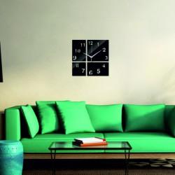 Moderné nástenné hodiny štvorček farba čierna BARBORA