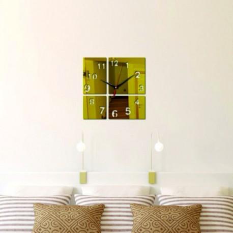 Moderné nástenné hodiny zlatíčko ,nálepka na stenu .