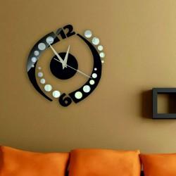 Nalepovacie hodiny na stenu gulička farba čierna  AHOJAL