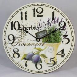 Drevené hodiny kruh levanduľa 30 cm