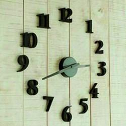 Moderné nalepovacie  hodiny číselko čierne .