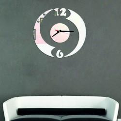 Moderné nalepovacie hodiny polkruh , zrkadlové OMNIKO
