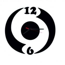 Moderné nalepovacie hodiny ludka , čierna farba  KIRTOFS
