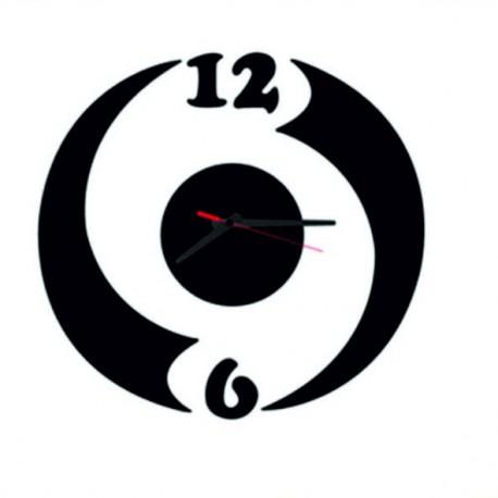 Moderné nalepovacie hodiny ludka , čierna farba  .