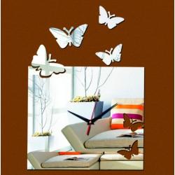 Moderné nalepovacie nástenné hodiny lietajuce motýle  PATKA