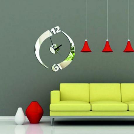Moderné nalepovacie nástenné hodiny júlia , zrkadlové .