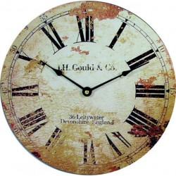 Štýlové Hodiny z dreva retro rímske HDF . Fi 30 cm ROMANA