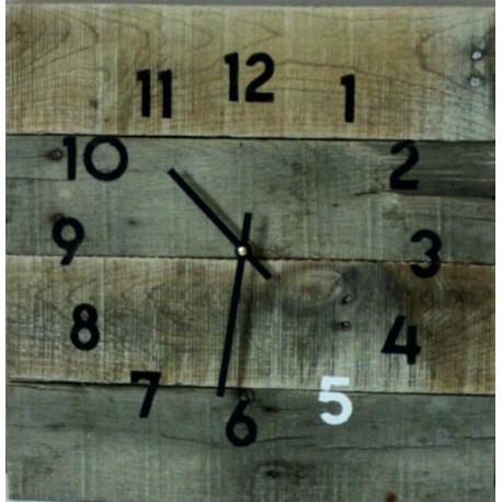 Drevené hodiny na chalupu , hodiny z dreva  na stenu