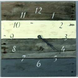 SENTOP Drevené hodiny na chalupu D40135 sivé