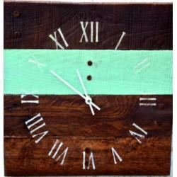 Drevené hodiny na stenu rímske modrá čiara ROMA