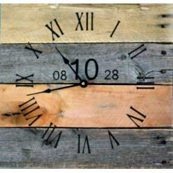 Drevené hodiny nástenné číslo desať .