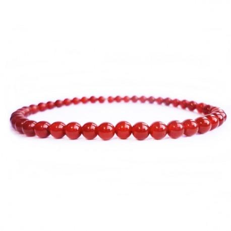 Náramok na ruku - Ónyx červený - FI 6 mm