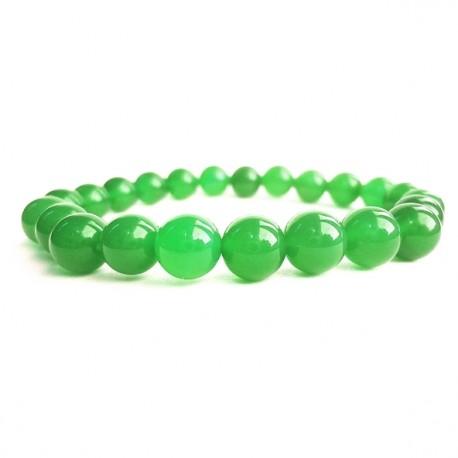 Náramok na ruku - Ónyx zelený - FI 8 mm