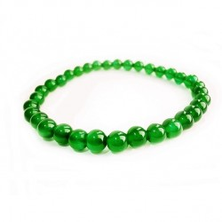 Náramok na ruku - Ónyx zelený - FI 6 mm