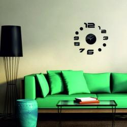Nástenné hodiny zrkadlové nálepka na stenu BUMERANG