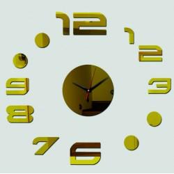 Nástenné hodiny anežka ,zrkadlové nálepka na stenu ZLATICKO