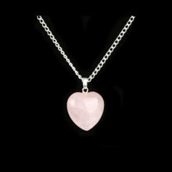 Prívesok z polodrahokamu - ruženín - srdce - WINIE