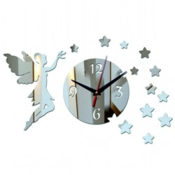 Moderné nalepovacie nástenné zrkadlové hodiny na stenu ELEONORA