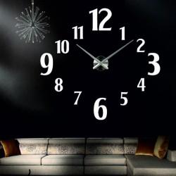 Veľké 3D nalepovacie nástenné hodiny - moderné 3D nalepovacie hodiny na stenu.