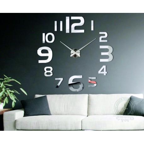 Veľké nástenné hodiny - moderné 3D nalepovacie hodiny na stenu. Nástenné hodiny do kuchyne i nástenné hodiny do obývačky!