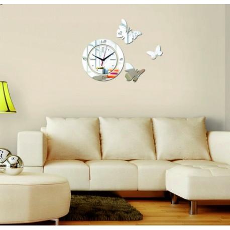 Moderné, nástenné hodiny -  3D nalepovacie hodiny na stenu.